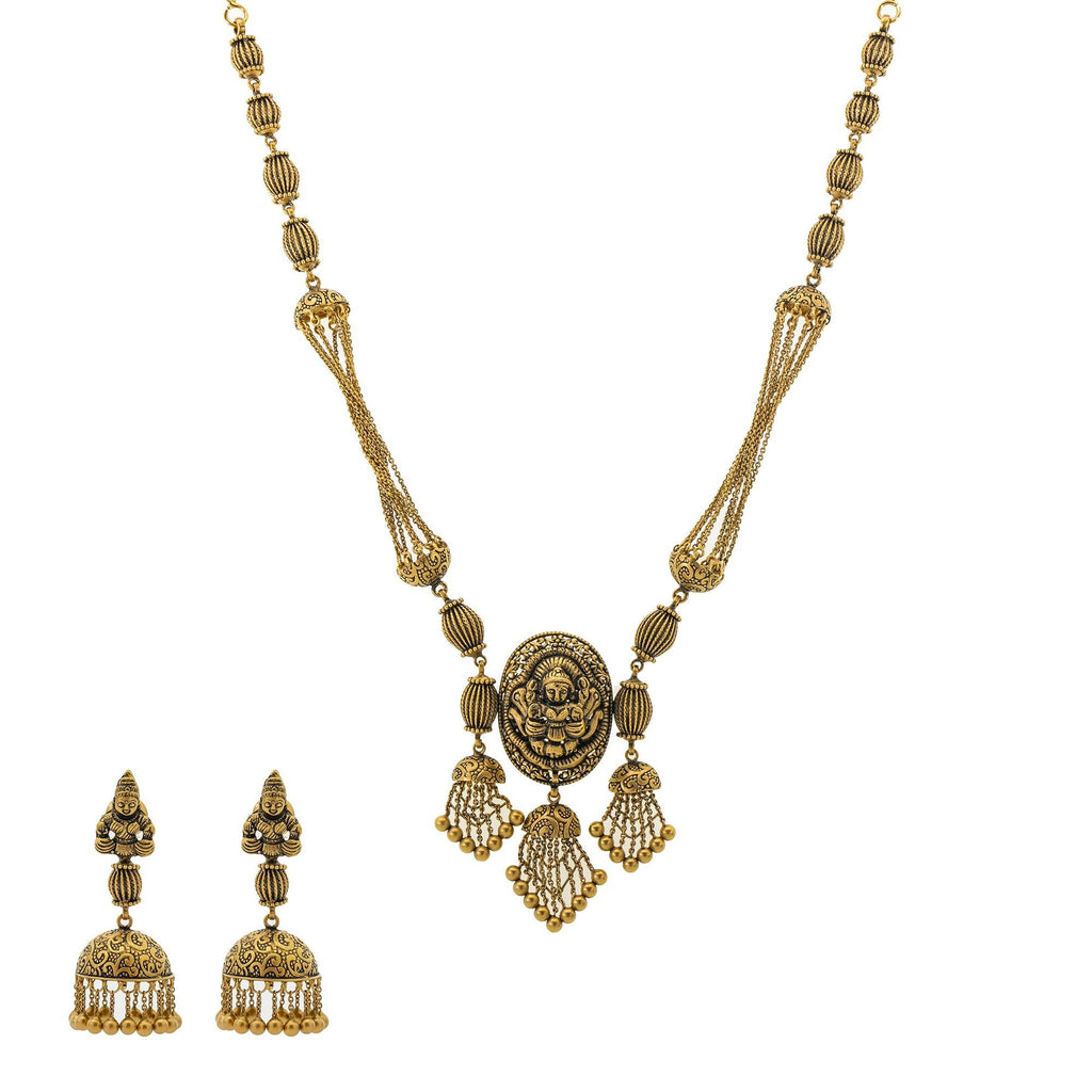 22K Gold Amara Antique Jewelry Set |    The 22K Gold Amara Antique Jewelry set from Virani Jewelers is the piece bridal jewelry set to...