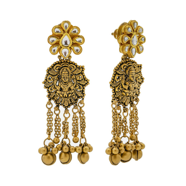 22K Gold Kashvi  Antique Jewelry Set |    Shimmer and shine on your special day with the beautiful 22K Gold Kashvi Antique Jewelry Set! ...