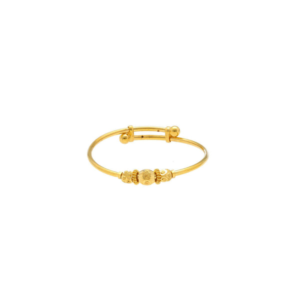 22K Gold Baby Bangle W/ Adjustable band |     Virani Jewelers has a tremendous determination of fine gold gems appropriate for children and...