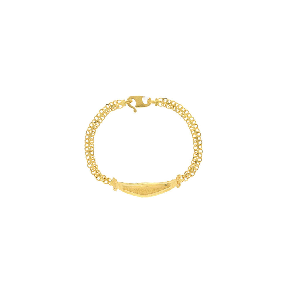 22K Yellow Gold Kid's Link Peace Fashionable Baby Bracelet, 4.6 grams |    This will Show off your sophisticated style by wearing this charming gold bracelet! This styli...