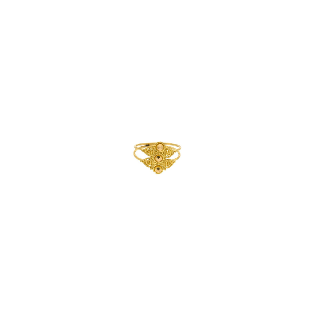 22K Yellow Gold Baby Ring W/ Double Shank Circle Design |    Explore the many options to adorn your child in fine jewelry with radiant pieces such as this ...