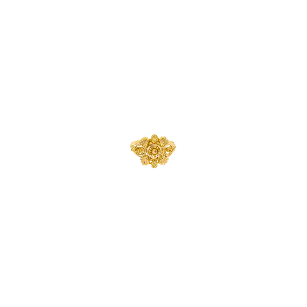 22K Yellow Gold Baby Ring W/ Shell & Mango Accents |    Be floral and fun with special kid-worthy gold jewelry such as this special 22K yellow gold ba...