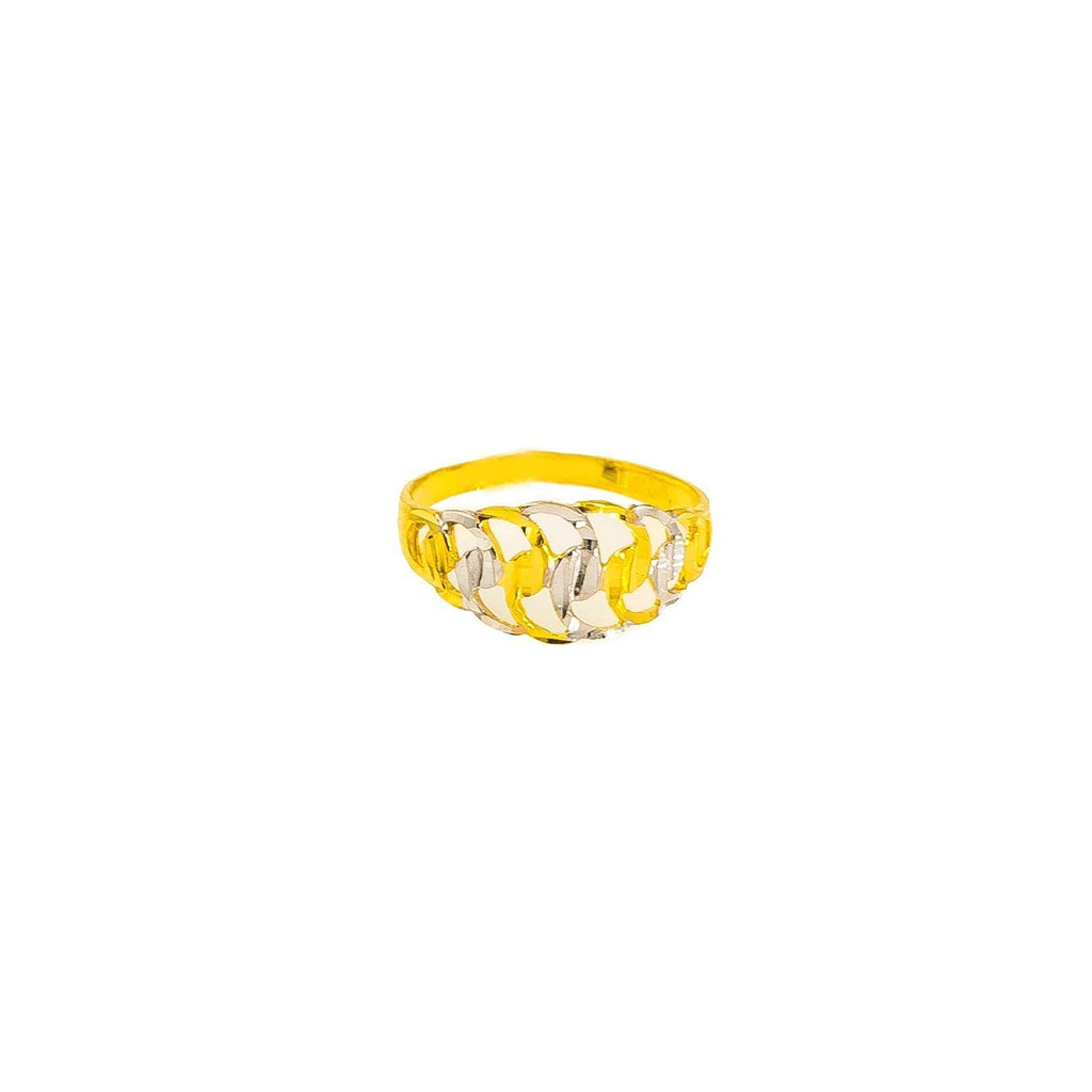 22K Multi Tone Gold Baby Ring W/ Alternating Etched Wave Pattern |  22K Multi Tone Gold Baby Ring W/ Alternating Etched Wave Pattern. This beautiful piece features ...