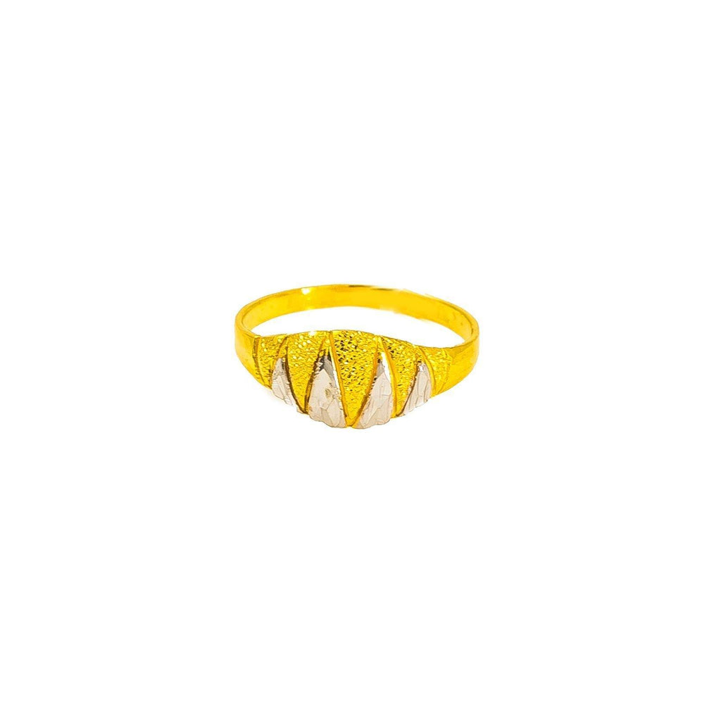 22K Multi Tone Gold Baby Ring W/ Jagged Shark Tooth Details, Size 2.5 |  22K Multi Tone Gold Baby Ring W/ Jagged Shark Tooth Details, size 2.5. This mini statement piece...