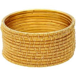 22K Gold Thin Indian Gold Bangle Set of 12