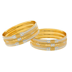 22K Yellow Gold Adequate Bangles Set of two, 76.4 grams