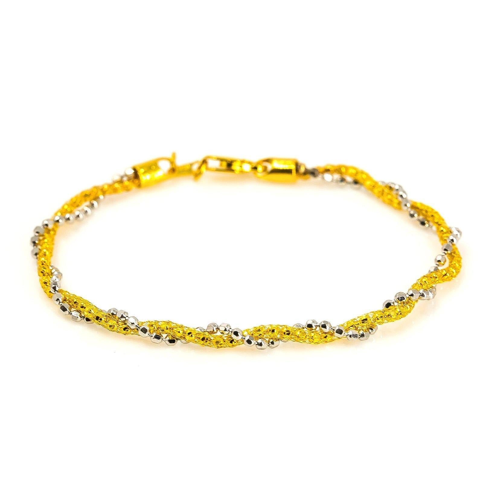 oval link in i twisted bracelet and yellow tiffany co gold tradesy