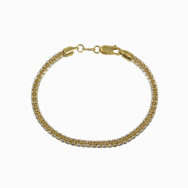 22K Multi Tone Gold Bracelet W/ Clustered Oval Beaded Link |  22K Multi Tone Gold Bracelet W/ Clustered Oval Beaded Link for women. This beautiful multi tone ...