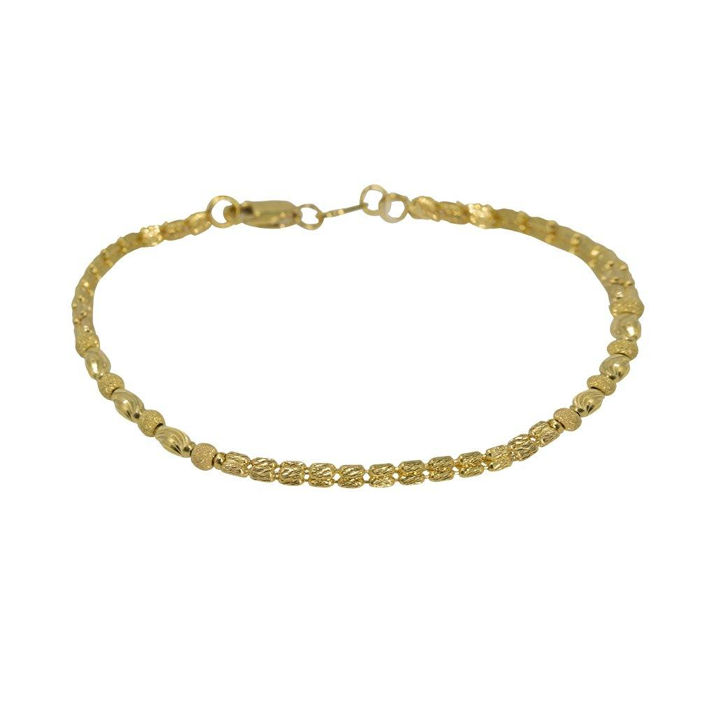 22K Yellow Gold Bracelet W/ Varied Gold Ball Designs | Explore the variation of textures and design with this lovely 22K yellow gold women's bracelet fr...