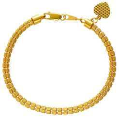 22K Yellow Gold Thick Link Bracelet