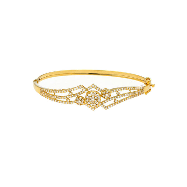 22K Gold Bangle W/ Cubic Zicronia |     This bangle is a charmer directly as it so happens. It graces your wrist as a quill and holds...