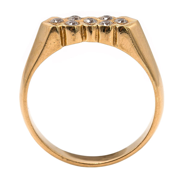 22K Yellow Gold Ring W/ Abstract Bezel Set CZ Gem Design | 22K Yellow Gold Ring W/ Abstract Bezel Set CZ Gem Design for women. This elegant yellow gold ring...