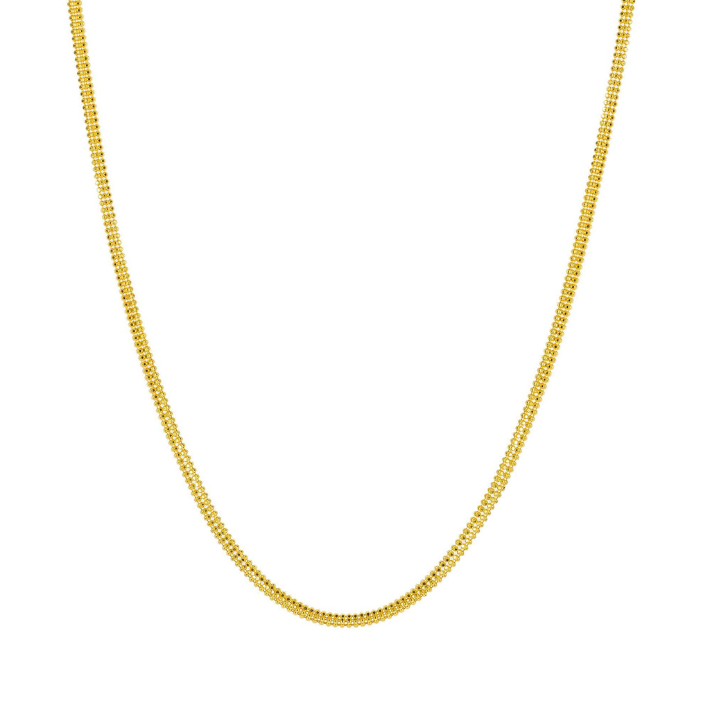 An image of a 22K rope chain from Virani Jewelers. | Enjoy the beauty and versatility of this rounded, ball strand 22K gold chain when you shop at Vir...