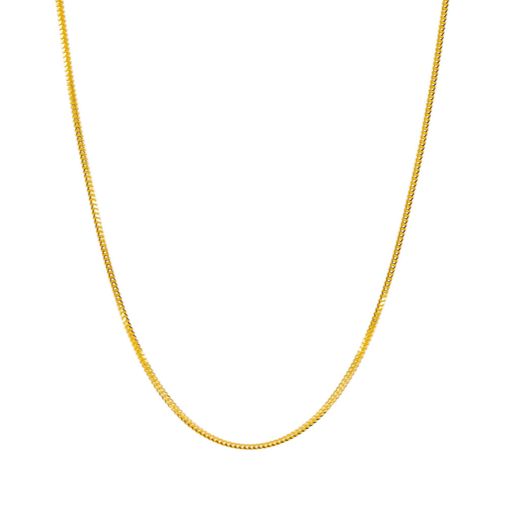 22K Yellow Gold Chain W/ Wheat Link Chain, 20 Inches | Mix two or three classic gold chains to create modern layered looks with pieces such as this 22K ...