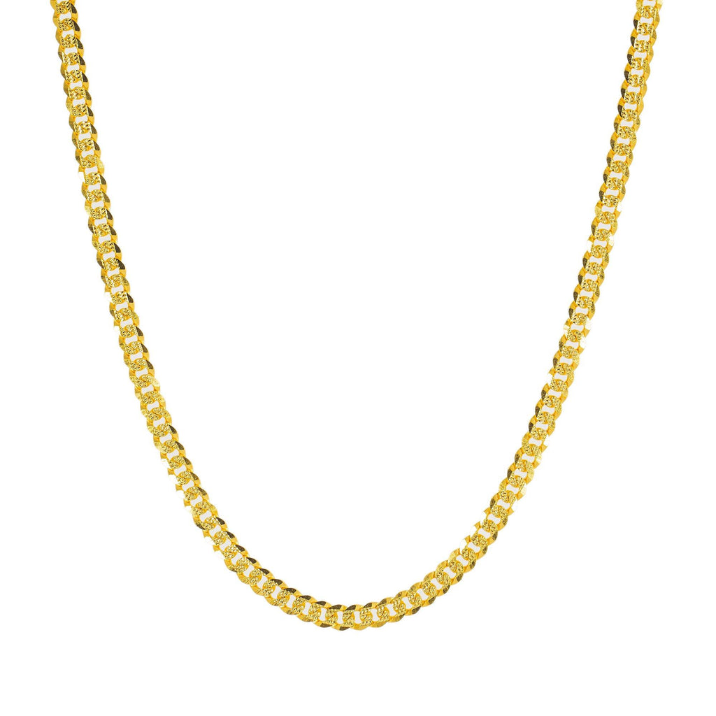 An image of the 22K gold chain Indian jewelry from Virani. | Spice up your wardrobe with a classic piece of Indian jewelry from Virani Jewelers!  Features a s...