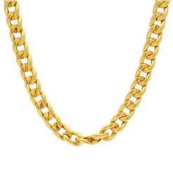 22K Yellow Gold Men's Cuban Link Chain W/ Satin Finish, 99.7 Grams