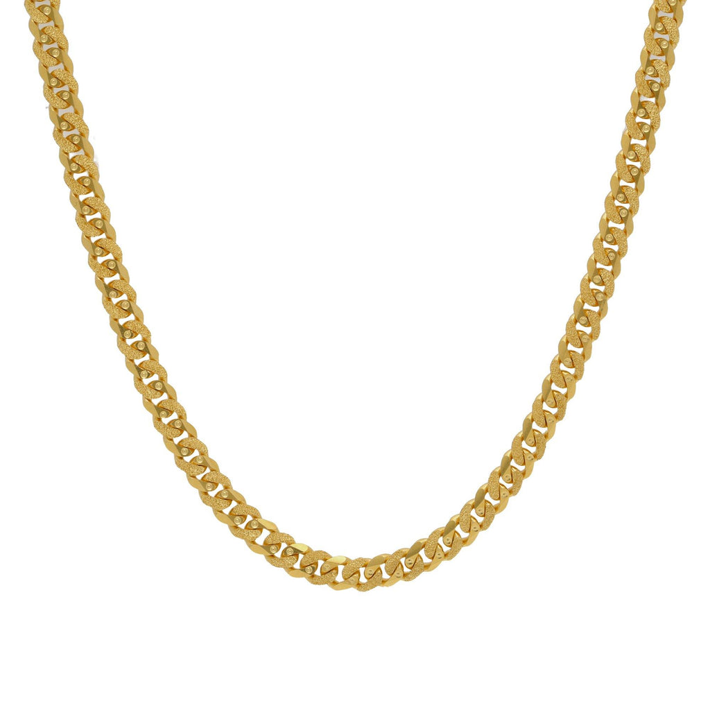 22K Yellow Gold Cuban Chain, Length 24inches |    A typical versatile gold chain that goes readily with ethnic as well as western apparels. Desi...