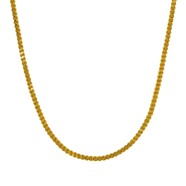 22K Yellow Gold Rope Chain |  22K Yellow Gold Rope Chain for women. Accentuate daily attire with this 22K yellow gold rope cha...