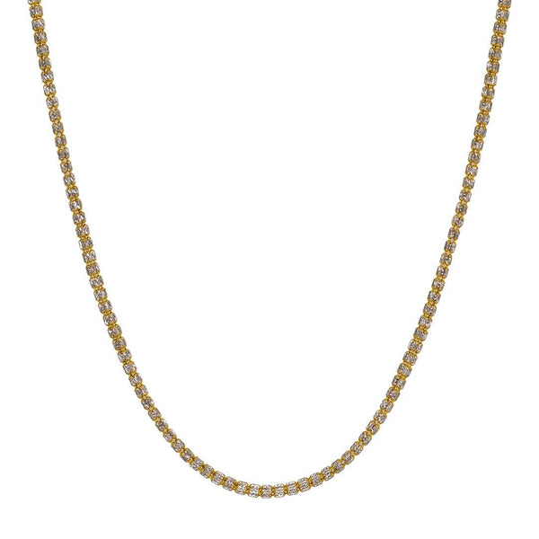 22K Multi Tone Gold Chain W/ Clustered Rondelle Beads |  22K Multi Tone Gold Chain W/ Clustered Rondelle Beads for women. This 22K multi tone gold chain ...
