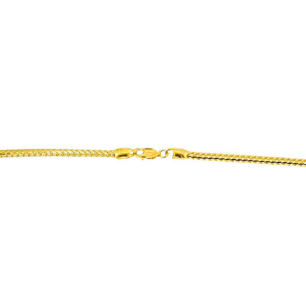 22K Yellow Gold Curb Link Chain | Create the bold, confident look you've always wanted with this 22K gold chain from Virani Jeweler...