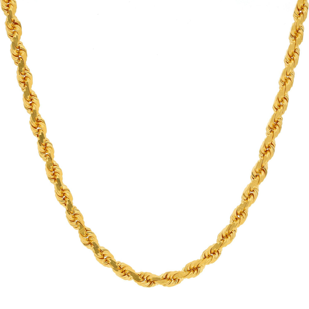 An image of the twisted 22K rope chain from Virani Jewelers. | Accessorize with luxurious 22K gold chains from Virani Jewelers!  Beautiful twisted chain design ...