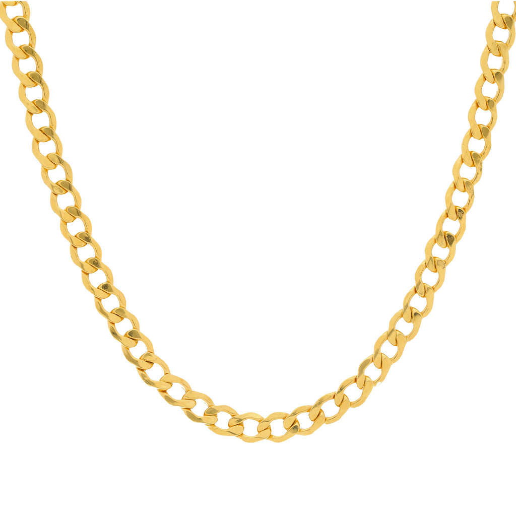 22K Yellow Gold Men's Cuban Link Chain, 27.3 Grams |    Create a masculine chic look with the classic touch of this men's 22K yellow gold Cuban link c...
