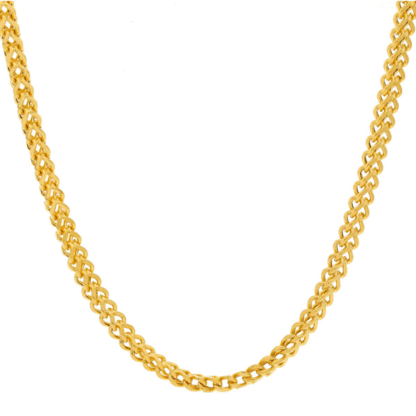 An image of the 22K double link chain from Virani Jewelers. | Take your attire to the next level with this Men's Double Link Chain from Virani Jewelers!  Featu...