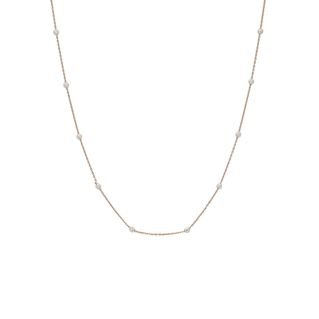 22K Gold Multitone Chain, Length : 16inches | Add simple luxury to your wardrobe with this gorgeous 22K gold chain from Virani Jewelers!  Desig...