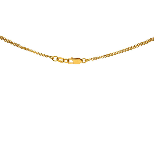 22K Gold Multitone Chain W/ Length 30 inches |     Zest up your closet with a 22K gold chain from Virani Jewelers!   • Highlights Virani's mark ...