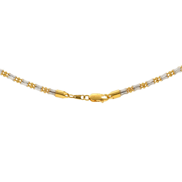 22K Multi Tone Gold Chain, 20 inches |     22K Multi Tone Gold Chain W/Textured Link Pattern for ladies. This splendid yet inconspicuous...