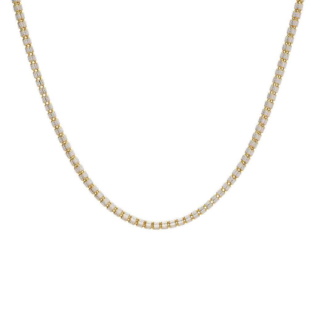 22K Multitone Gold Chain W. Length 18inches |     22K Yellow Gold Chain W/Rounded Short Bead Link for ladies. This brilliant gold chain include...