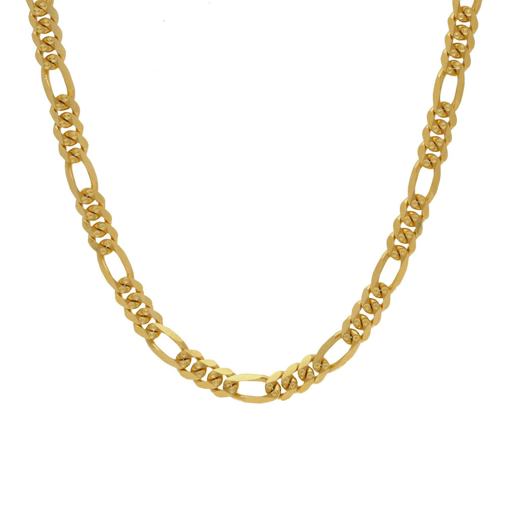 22K Yellow Gold Figaro Chain, Length 18inches |    Fancy chain crafted to match your festive needs in gorgeous yellow gold in 22K purity exclusiv...