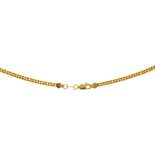 22K Yellow Gold Chain, Length 20inches | Get yourself a chain that is as versatile as this gold chain. This 22K gold chain goes perfectly ...
