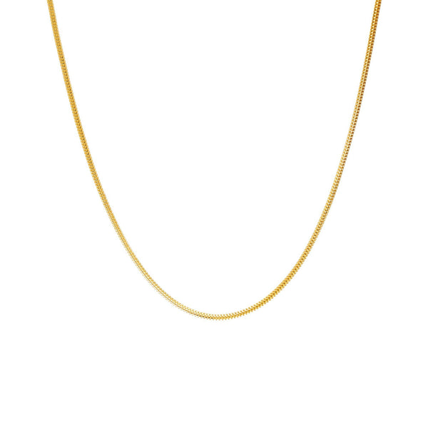 22K Yellow Gold Minimalist Chain |  Bring an air of casual elegance to your outfits with the 22K Yellow Gold Minimalist Chain from V...