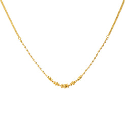 22K Yellow Gold Thin Beaded Chain