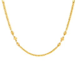 22K Yellow Gold Simple Beaded Chain (18.6 grams)