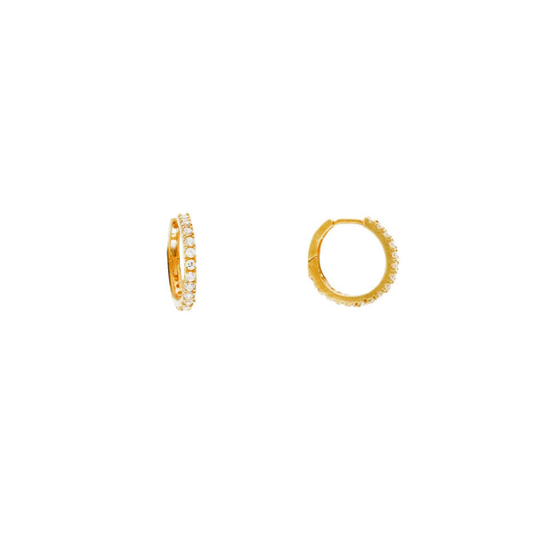 An image showing the side and snap clasp on the 22K gold earrings from Virani Jewelers. | Enjoy the subtle beauty of these gorgeous 22K gold earrings when you shop Virani Jewelers!  Made ...