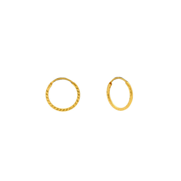 An image showing the infinity clasp on the 22K gold hoops from Virani Jewelers. | Accentuate your everyday look with these gorgeous 22K gold hoops from Virani Jewelers!  Features ...