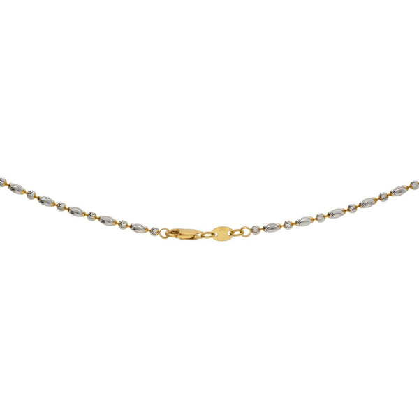 22K Gold Fancy Chain, Length 18 inches | Classic 22K yellow gold chain crafted meticulously to match your taste; lightweight everyday wear...