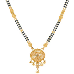 An image of a double-stranded 22K gold necklace from Virani Jewelers