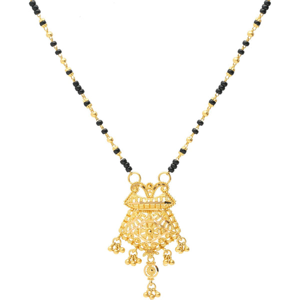 22K-Gold-Mangalsutra-Chain |    The 22K Gold Beaded Pendant Mangalsutra Chain Necklace is just an Indian bride needs to make h...