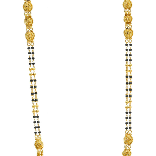 22K Gold Mangalsutra Black Beads Chain, Length 30inches |    This unique 22K yellow gold mangalsutra with black beads is a wonderful way to accent your att...