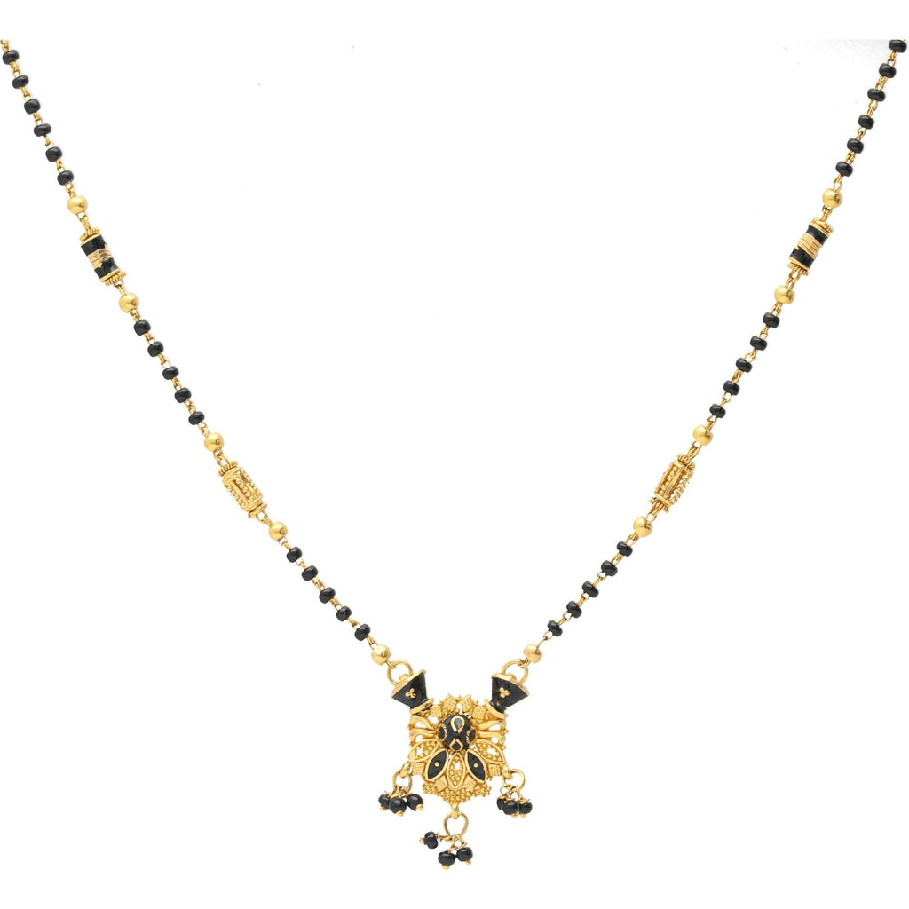 An image of the Vidya Mangalsutra 22K gold chain necklace from Virani Jewelers. | Show your new bride how much you care with the 22K Gold Vidya Mangalsutra Chain Necklace from Vir...