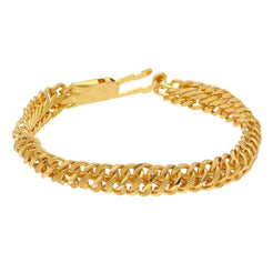 22K Yellow Gold Men's Bracelet W/ Double S-Link Band, 24 grams