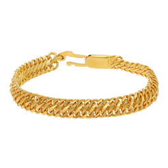 22K Yellow Gold Men's Bracelet W/ Double S-Link Band, 17.2 grams