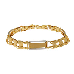 22K Multi Gold Stylish Men Bracelet