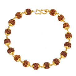 22K Yellow Gold Men Rudraksha Bracelet