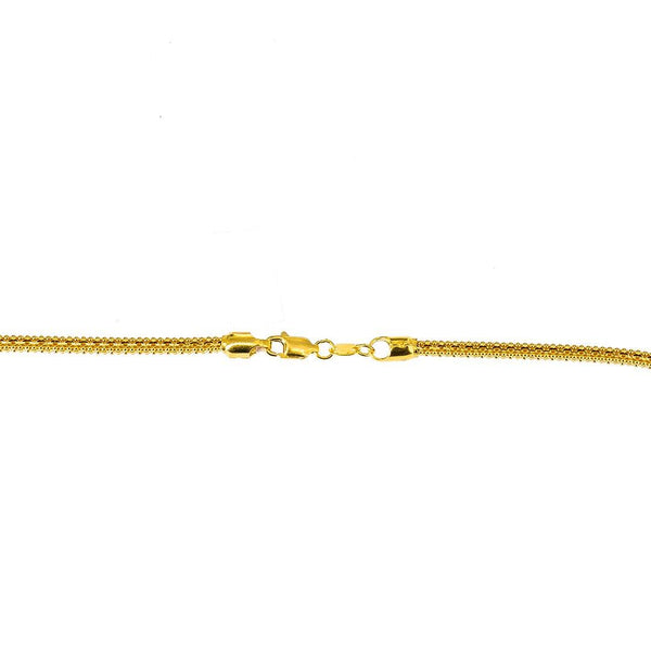 22K Yellow Gold Round Link Chain, 33.8 gm | Invest in the best 22K gold jewelry available by ordering this beautiful round link chain from Vi...