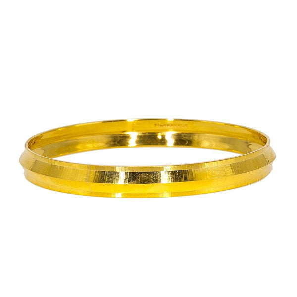 22K Yellow Gold Men's Kada Bangle | Enhance your masculine chic attire with classic gold jewelry like this 22K yellow gold men's Kada...