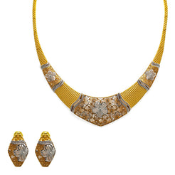 22K Gold Necklace & Earrings Set